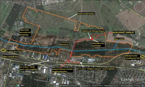 Az élőhelykezelés helyszíne (Forrás: Google Maps)